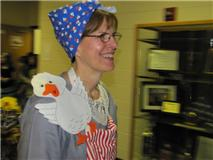 Becky as Mrs. Wishy-Washy