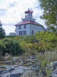lighthouse in Bruce Bay Canada