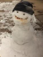 Texas snowman